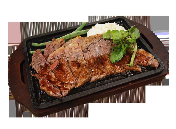 絶品リブアイ鉄板ステーキ