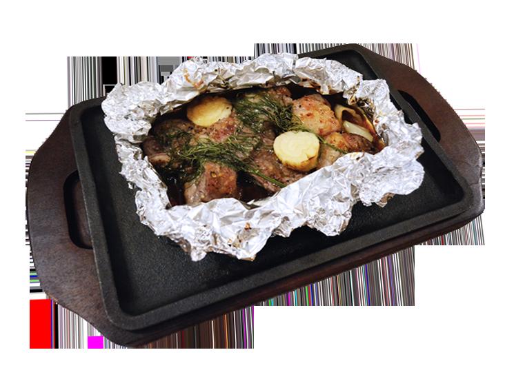 ラム肉のロースト香草ホイル焼き