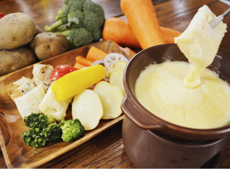 温野菜の特製チーズフォンデュ